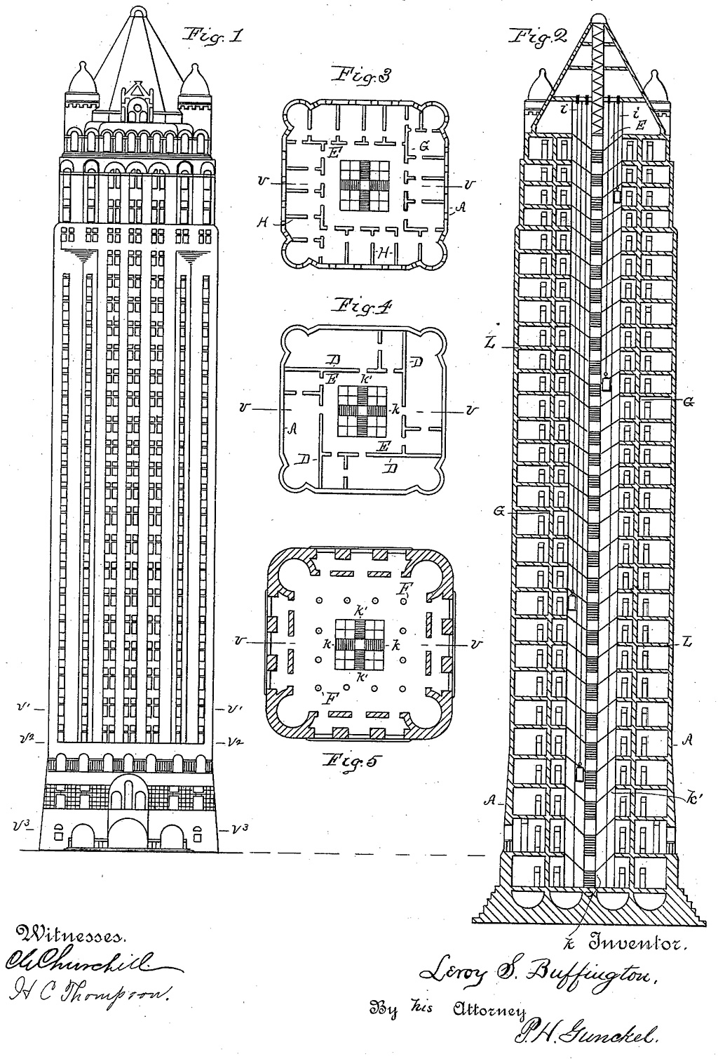 Leroy Buffington skyscraper: 1888