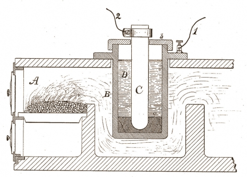 Thomas Edison Apparatus for Generating Electricity