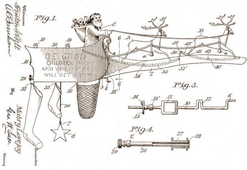 Mechanical Santa Claus Toy: 1913