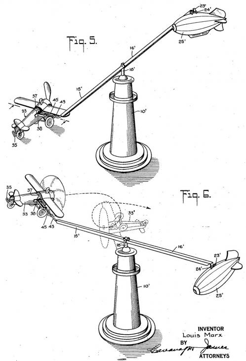 Louis Marx Looping Toy Aeroplane