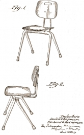 Chapman Stacking Chair: 1953