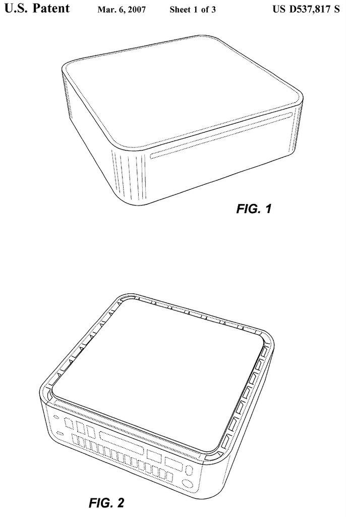 Apple's Mac Mini Ornamental Design Patent